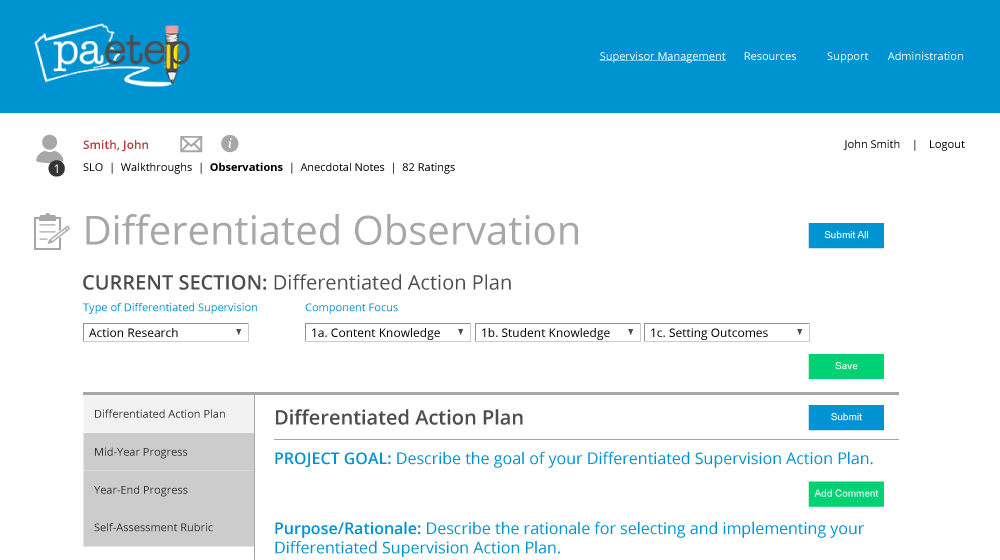 Differentiated Observation Module PAETEP
