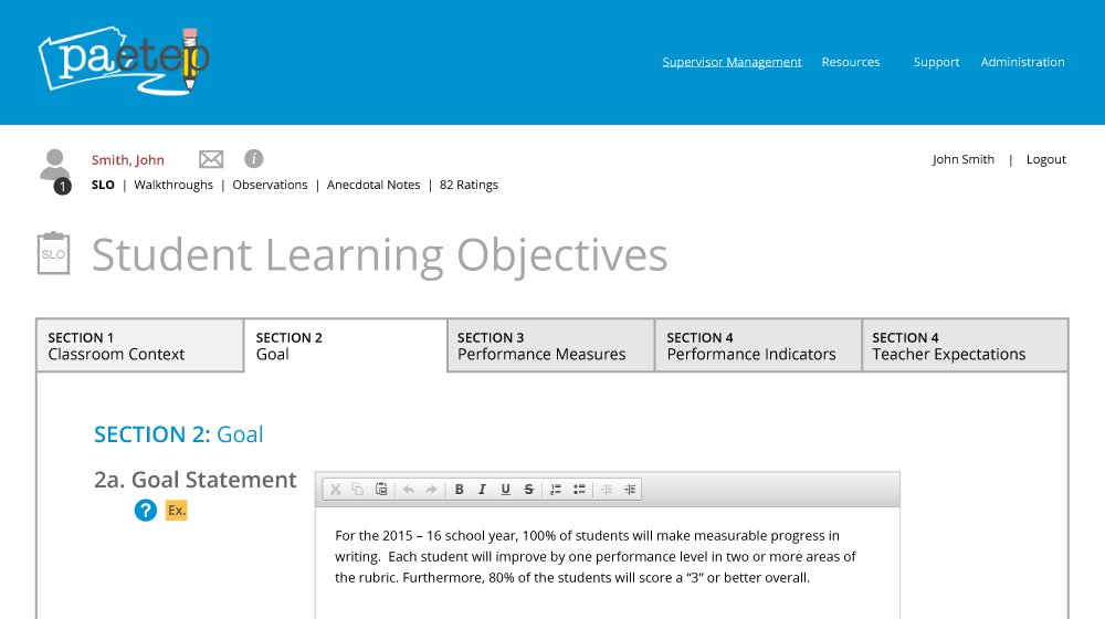 Image - Student Learning Objectives Section 2