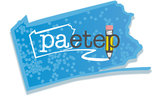 PAETEP Logo with School Districts Map