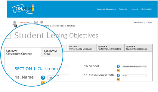 Student Learning Objectives Section 2 Image